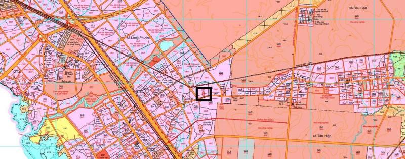 Ảnh của Bán đất nền 3 mặt tiền cách sân bay long thành 3km, diện tích: 543m2, thổ cư: 150m2, thuận tiện mở văn phòng kinh doanh.