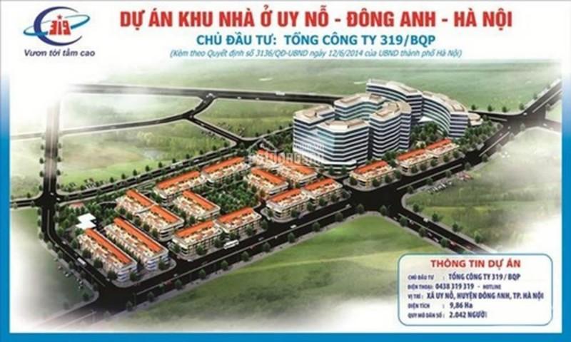 Ảnh của Dự án đất nền đông anh, khu nhà ở uy nỗ, đông anh mặt đường cổ loa tổng công ty 319 bộ quốc phòng