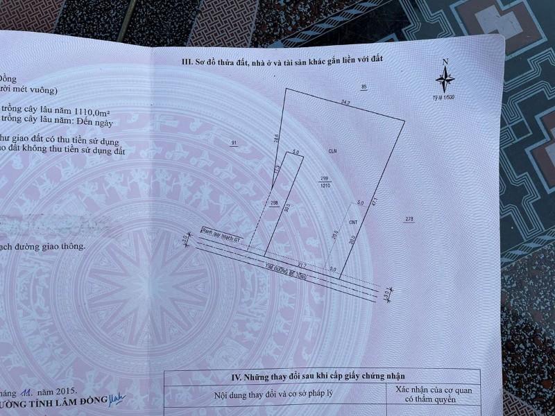 Ảnh của Bán 1.360m2 đất ở tại xã đại lào, tp bảo lộc, lâm đồng