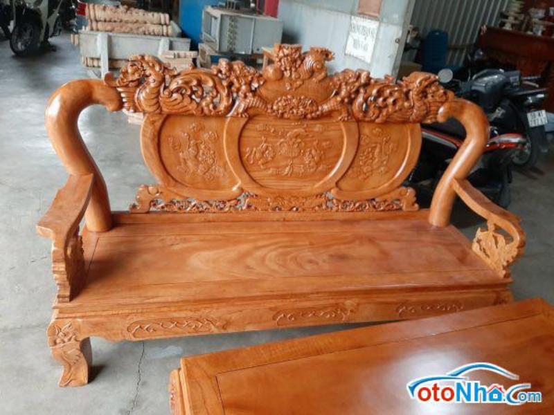 Ảnh của Salon gỗ tự nhiên tay 12 gồm 6 món chạm nghê