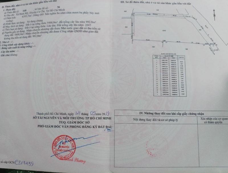 Picture of Củ chi, đất thổ cư, hl9 bình mỹ, 6394m2, chỉ 37 tỷ