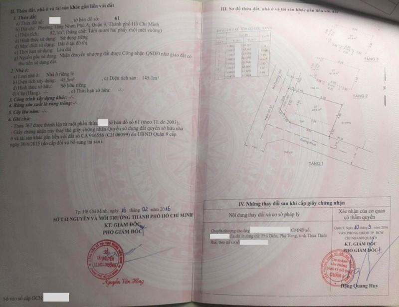 Picture of Msq9.26-bán 2 mt hxh đường 160 phường tăng nhơn phú a, quận 9.dt: 82m2. giá 7.2 tỷ