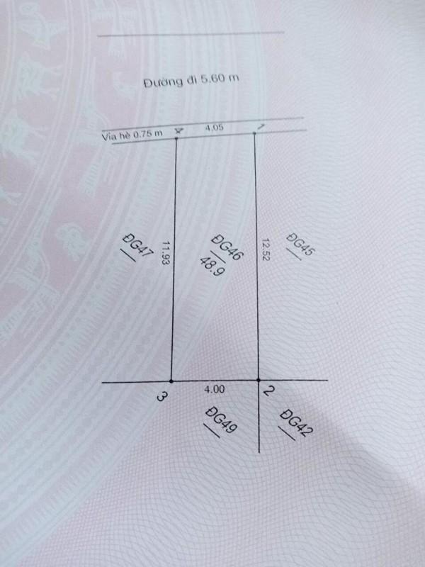 Ảnh của 49m2 đất dg yên vĩnh sau trường câp 2 kim chung a mặt tiền 4m sâu 12m