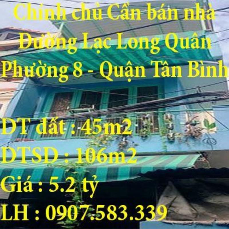 Ảnh của Chính chủ cần bán nhà hẻm 888 đường lạc long quân, phường 8, quận tân bình, tp hcm