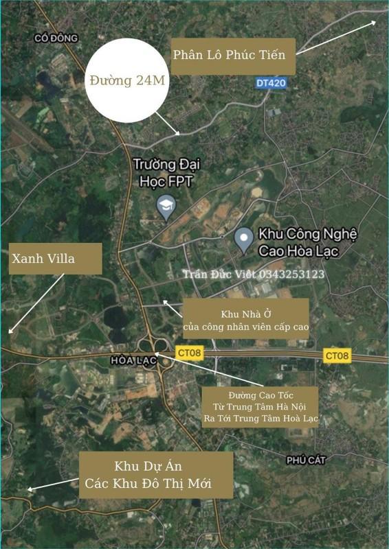 Picture of Đất nền phân lô phúc tiến 15 lô - bình yên - thạc thất - ven khu công nghệ cao hòa lạc - hà nội - đất nền - đất nền ven khu công nghiệp
