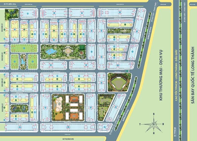 Picture of Đất nền thổ cư mặt tiền gần sân bay long thành 2 km, ngân hàng hỗ trợ cho vay 70%