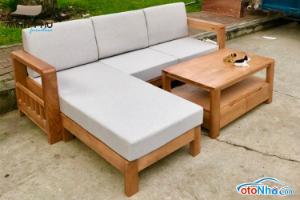Ảnh của Sofa góc gỗ sồi mỹ