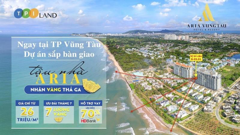 Picture of Aria vũng tàu tặng 5 lượng, chiết khấu 6% căn 3pn-160m2, view biển, giá 5.6 tỷ đã thuế