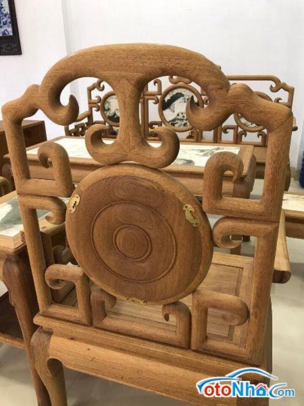 Ảnh của Bộ ghế móc gỗ gụ 6 món hàng đánh chay giá 23 triệu