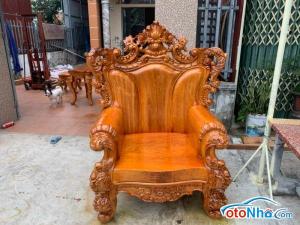 Ảnh của Bộ ghế sofa gỗ gõ 10 món giấy 420 triệu